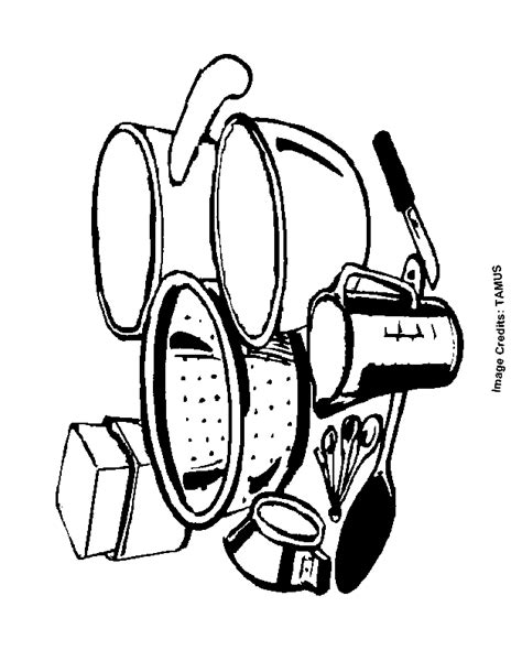 kitchen utensils coloring pages printable kiddos