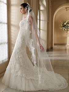 beautiful strapless wedding dress with long veil ipunya With long veil wedding dresses