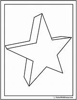 3d Pages Coloring Quiver Print Star Shapes Templates Colorwithfuzzy Template sketch template