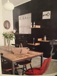 table en bois d39olivier massif patte en fer forger noir With charming meuble porte manteaux pour entree 11 idees deco pour une entree style loft industriel