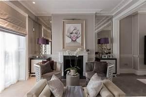 Decoration salon avec moulure for Kitchen cabinets lowes with papier peint originaux