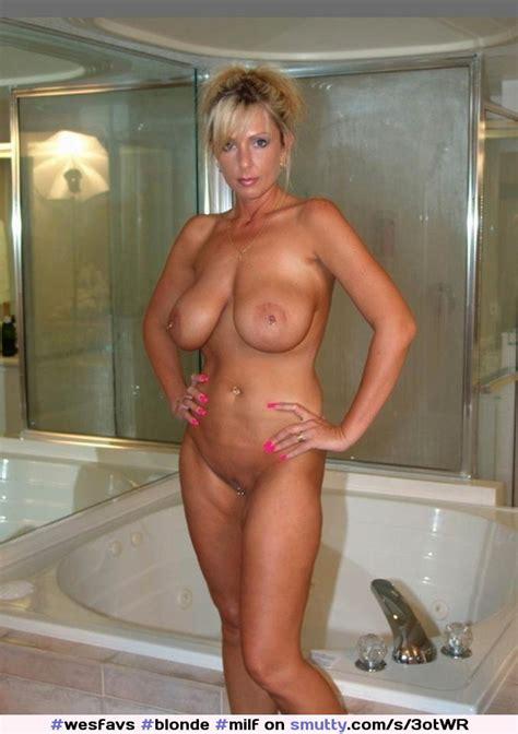 Blonde Milf Cougar BigFakeTits Weddingring Housewife