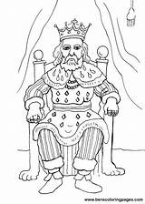 King Coloring Pages Rey Trono El Crafts Para Printable Mermaids Josiah Medieval Fairies Imprimir sketch template