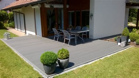 Wpc Terrassendielen Komplettbausatz Grau Komplettset