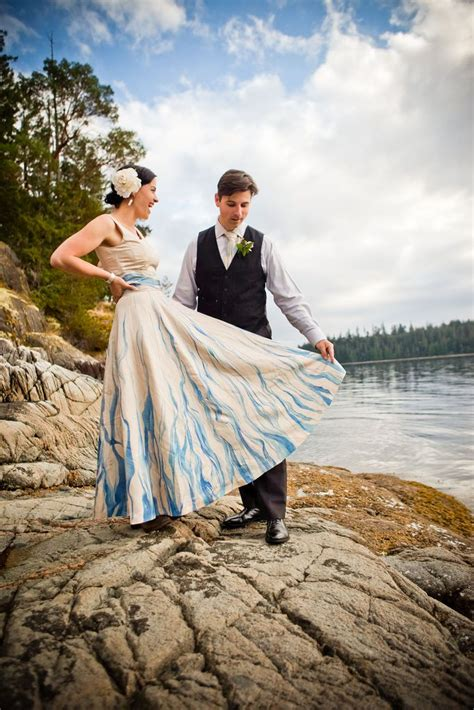 Handpainted, Upcycled Wedding Dress  Eco Friendly Wedding
