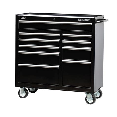 husky tool storage cabinets husky 41 in 10 drawer tool cabinet black h4116tr the