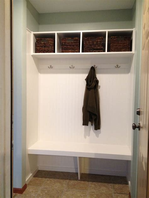 Standing Coat Closet by Closet Mudroom Closet Turned Mudroom For The Home