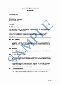 full time employment agreement sample lawpath With full time employment contract template