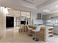 简约半开放式厨房吧台设计_土巴兔装修效果图