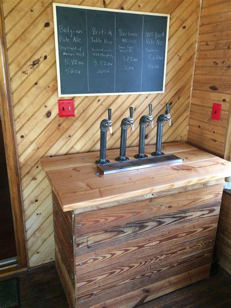 kegerator design reclaimed wood  pipe