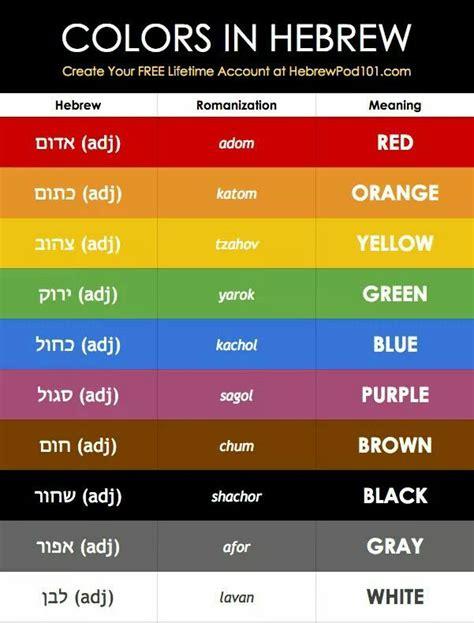biblical color meanings best 25 hebrew school ideas on in hebrew