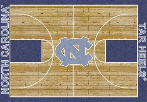 Basketball Court Rugs by Buy Unc Tar Heels Basketball Court Logo Rugs Online