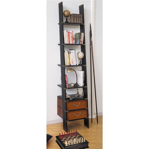 Ladder Bookcase Uk by Library Ladder Bookcase Shelving Unit In Black Authentic