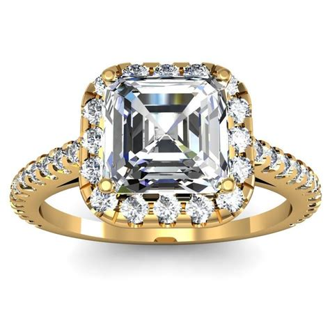 54 best images about asscher shaped rings on pinterest
