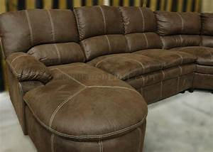 rustic brown microfiber modern reclining sectional With rustic sectional sofas with recliners