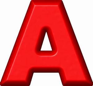 Presentation Alphabets: Red Refrigerator Magnet A