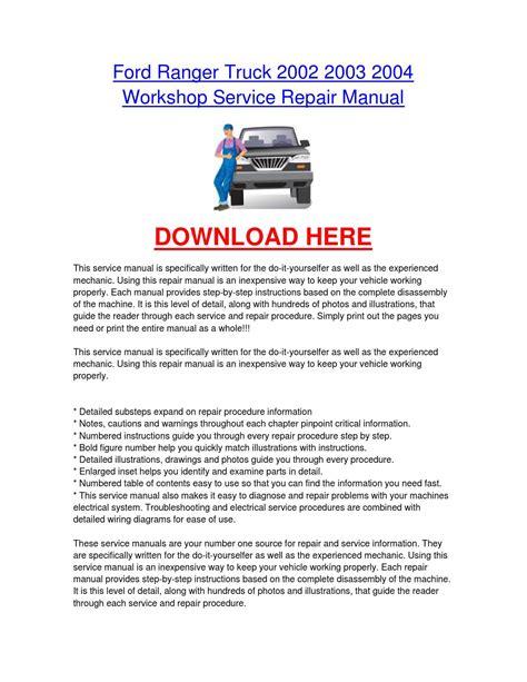 ford ranger truck    workshop car service