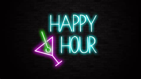 neon bar lights happy hour bar sign liberty