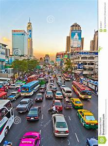 Traffic Jam During Rush-hour In Bangkok Editorial ...