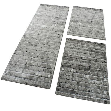 Designer Teppich Läufer by Bettumrandung 3 Tlg Designer Teppich L 228 Ufer Steinwand