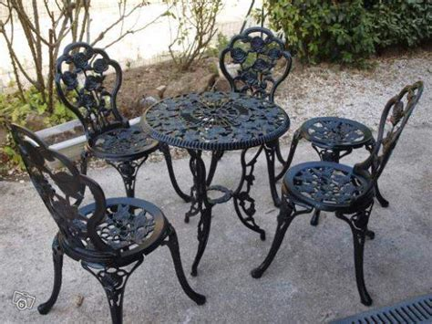chaise jardin fer forgé awesome table et chaise de jardin ancienne ideas awesome interior home satellite delight us