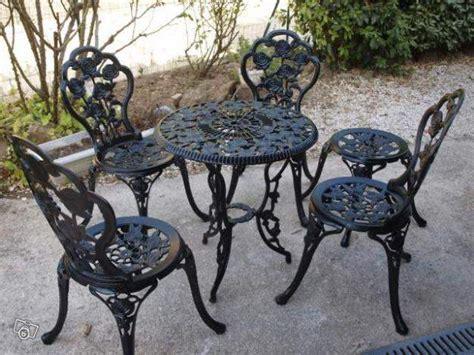 chaise en fer forgé de jardin chaise de jardin fer forgé de cing et jardin