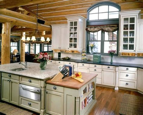 cabin kitchen design ideas cabin style kitchen cabinets 5047