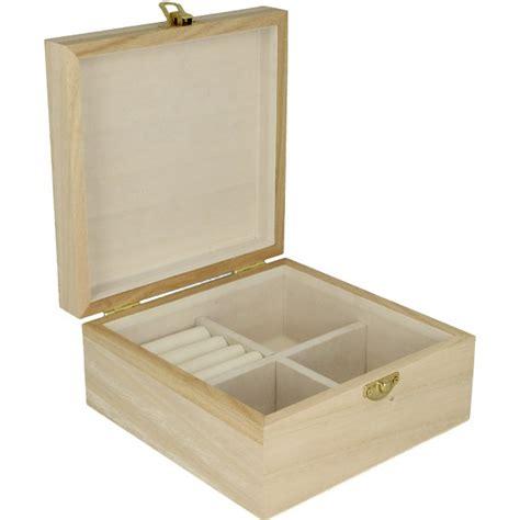 boite 224 bijoux en bois 224 d 233 corer dim 16x16x8cm artemio