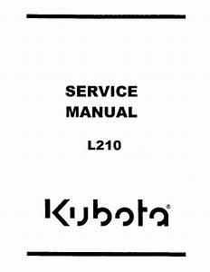 Kubota L210 Tractor Service Manual Pdf Download