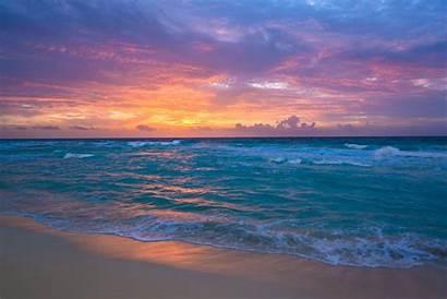 Cancun Sunset Mexico Romantic Sand Ocean Drop