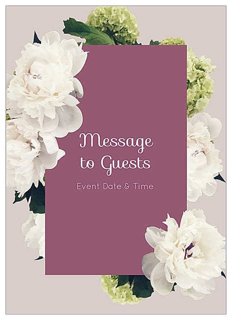 Easy To Use White Flowers Invitation Card Design Templates