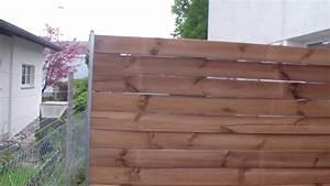 Holz U Profil : sichtschutz selber bauen youtube ~ Frokenaadalensverden.com Haus und Dekorationen
