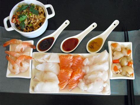 cuisiner avec un chef fondue japonaise facile au poisson la recette facile par