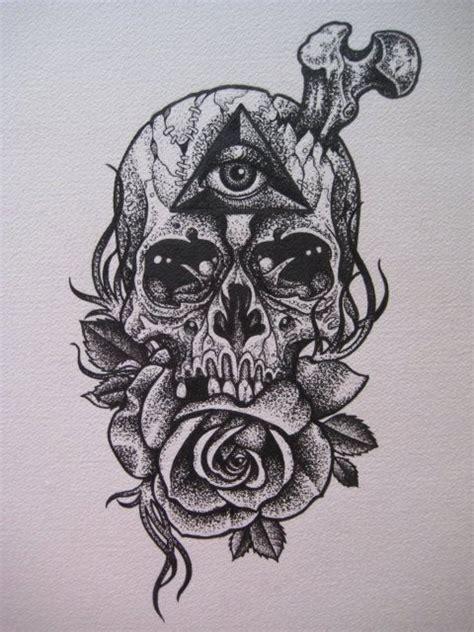 Thirteen Original Illustration Skulls Skull Pushead
