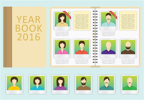 year book vector template   vector art