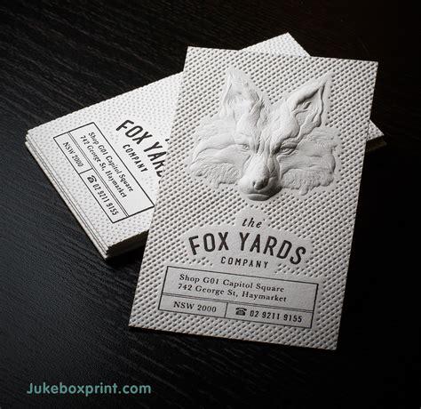 inspiring examples  letterpress business cards