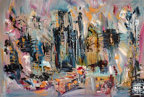 peinture moderne au couteau tableau abstrait contemporain au couteau 224 peindre
