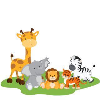 Baby Shower Giraffe Ideas by Cute Cartoon Baby Jungle Animals Animal Photo Sculptures