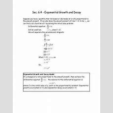 Exponential Growth And Decay Worksheet Homeschooldressagecom