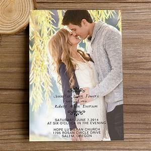 affordable unique spring photo wedding invitations ewi326 With affordable engraved wedding invitations