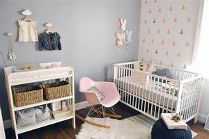 decoration chambre bebe 39 idees tendances With chambre bebe fille moderne