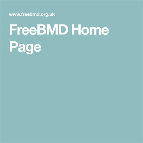 freebmd home page  images family tree chart
