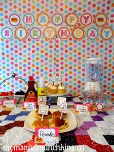 s day brunch invitation pancake and pajama party ideas munchkins