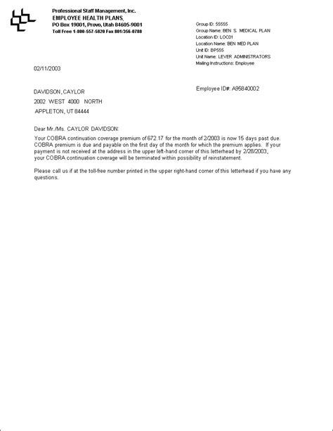 sample letter explaining late payments sample business