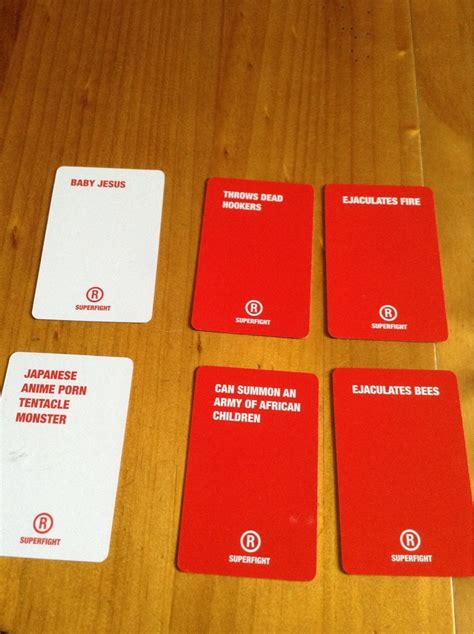 has anyone played the party game quot superfight quot like cards