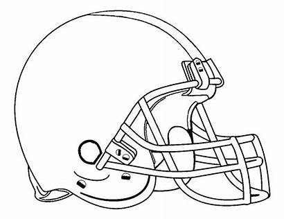 Coloring Pages Michigan Wolverines Helmet Football Printable