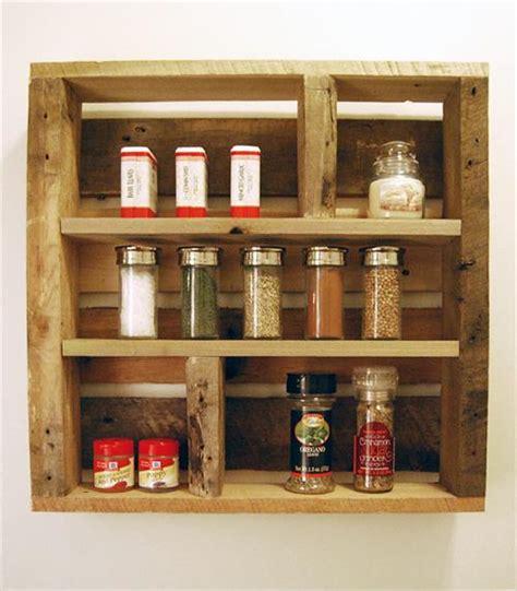Spice Rack Wood by Diy Pallet Wood Spice Rack Pallets Designs