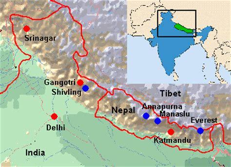 himalayan mountains map www pixshark images