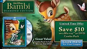 Coupon 10 Off Bambi Diamond Edition Blu Ray Or Dvd Combo