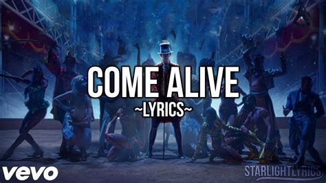 The Greatest Showman  Come Alive (lyric Video) Hd Youtube